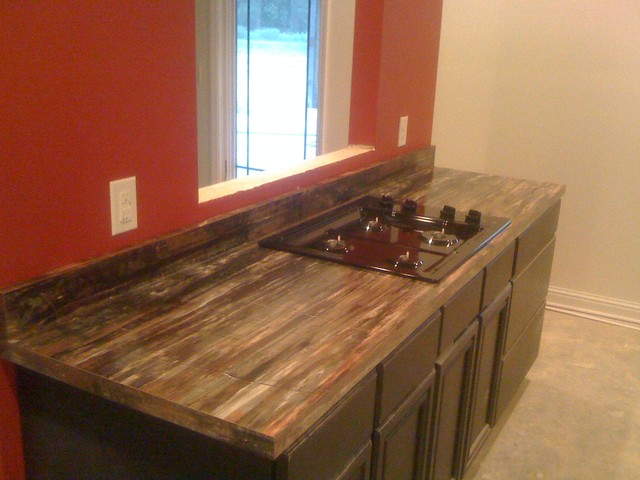 Petrified Wood Formica Laminate Modern Kitchen