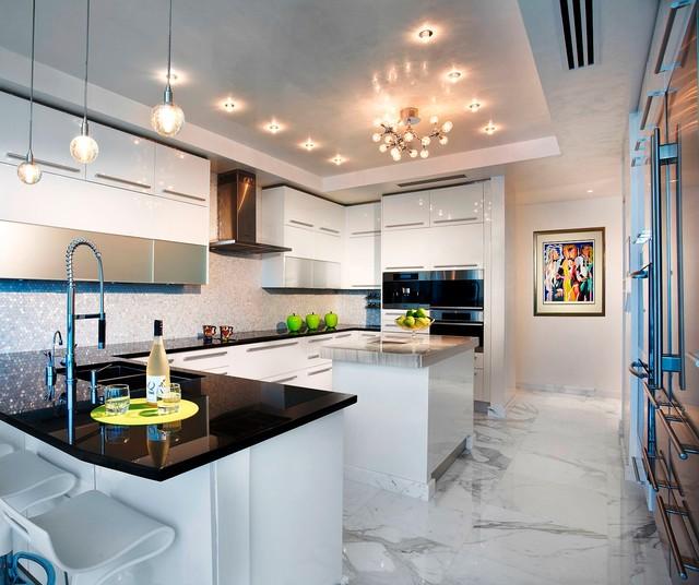 Pfuner Design, Oceanfront Penthouse - Contemporary - Kitchen - Miami ...