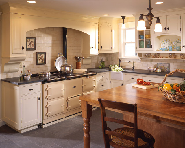 kitchen hood designs. Traditional kitchen idea in Seattle with subway tile backsplash  a farmhouse sink wood countertops Kitchen Hood Design Houzz