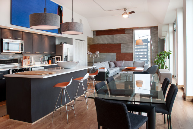 Philadelphia Penthouse Apartment Contemporary Kitchen