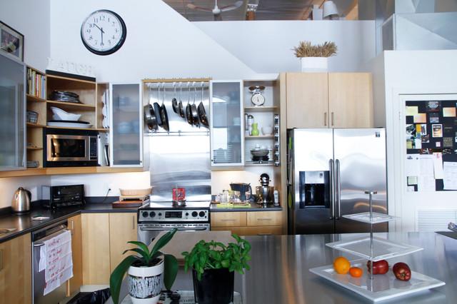 Phillip & Lena: Montreal, QC industrial-kitchen
