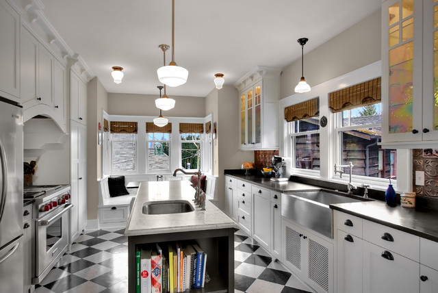 Phinney Residence kitchen traditional kitchen