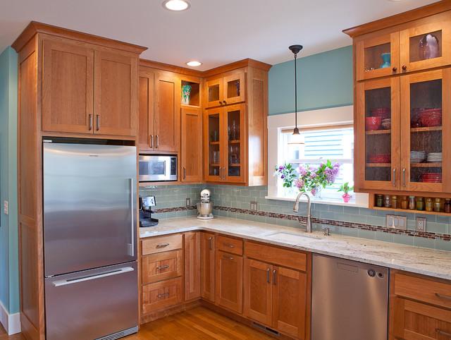 Phinney Ridge Cherry Kitchen Contemporary Kitchen