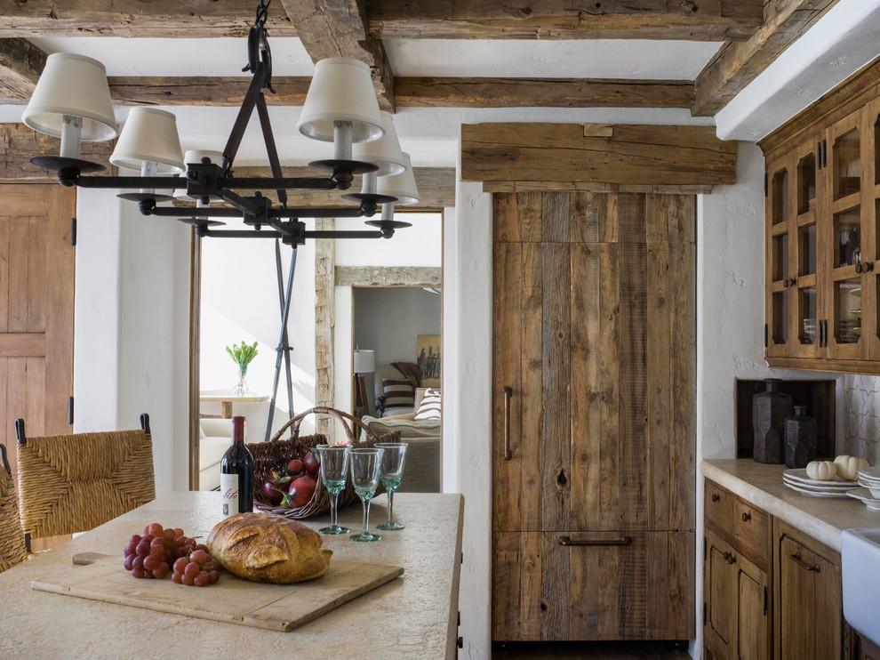 Kitchen - rustic kitchen idea in San Francisco