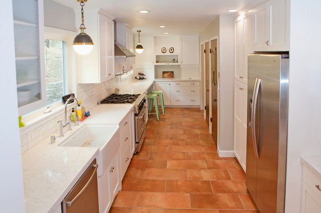 Spanish Kitchen Design Ideas With Red Color Marble ~ Piedmont kitchen traditional san francisco