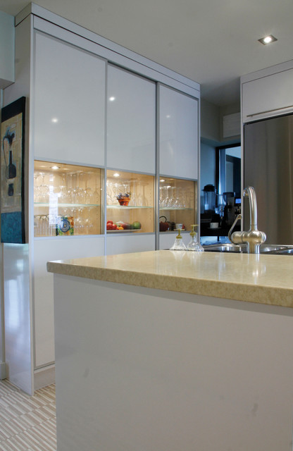 Pierre and Simone: Montreal, QC contemporary-kitchen