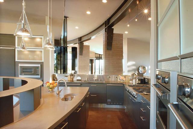 Pima Canyon Estates, Home 701 modern-kitchen