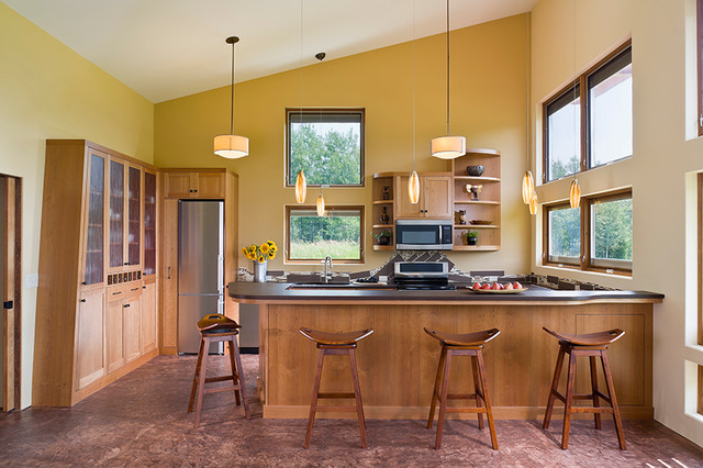 Pine City 'Green' Home contemporary-kitchen