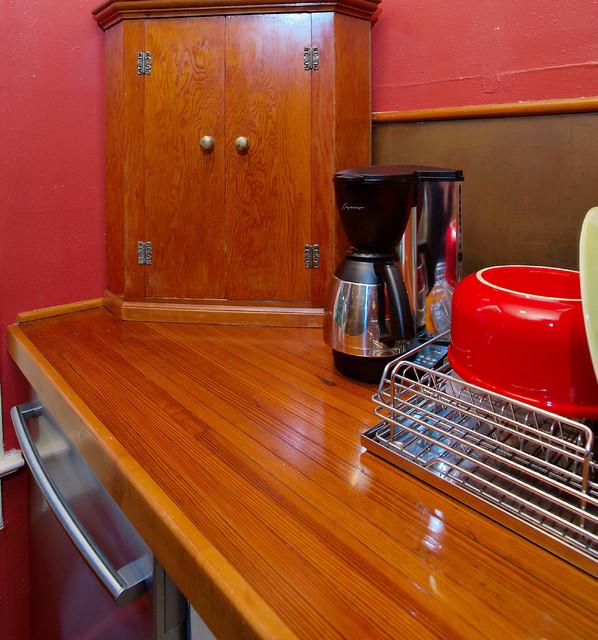 Pine Countertop contemporary-kitchen