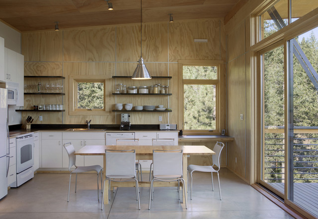 Pine forest modern kitchen seattle by prentiss for Interior finishing company