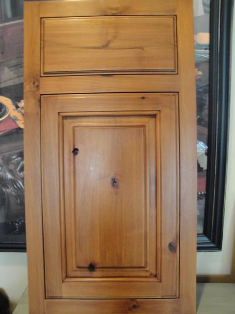 pine inset door style rustic-kitchen