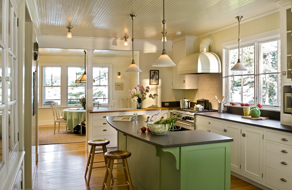 Pinewold Beach Style Kitchen Portland Maine By Whitten