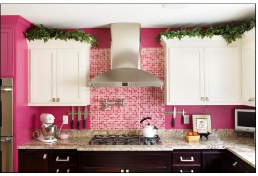 Pink Contemporary Kitchen  Contemporary  Kitchen  milwaukee  by A