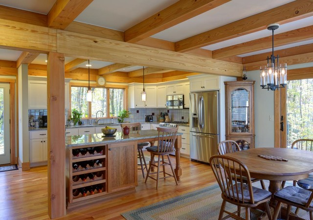 Pioneer Valley Post amp Beam Craftsman Kitchen