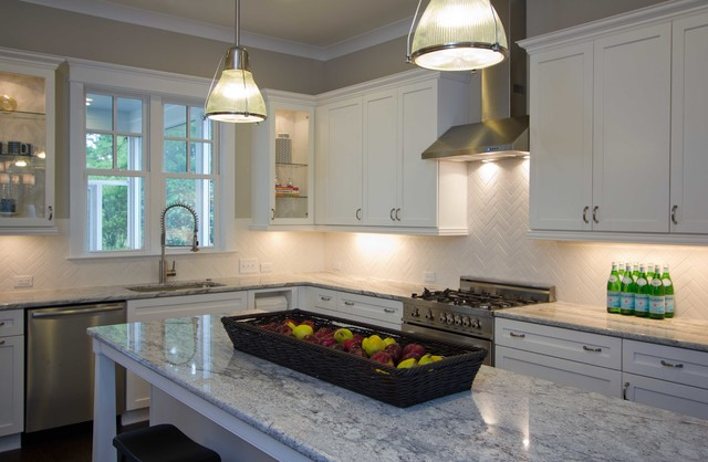piper model home, autumn hall traditional-kitchen