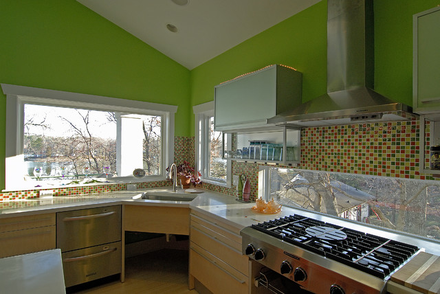 Pippin stearns green home contemporary kitchen for Pippin home designs