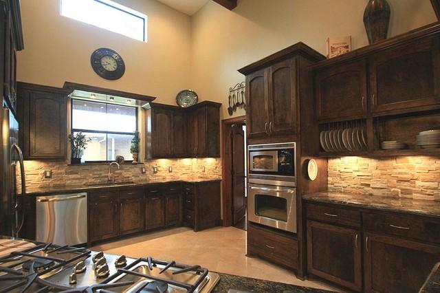 Plan 140-149: Modern Ranch traditional-kitchen