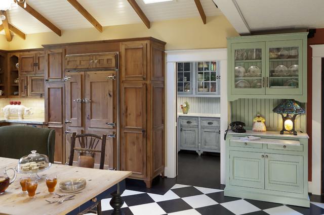 Plantation Inspired Kitchen traditional-kitchen