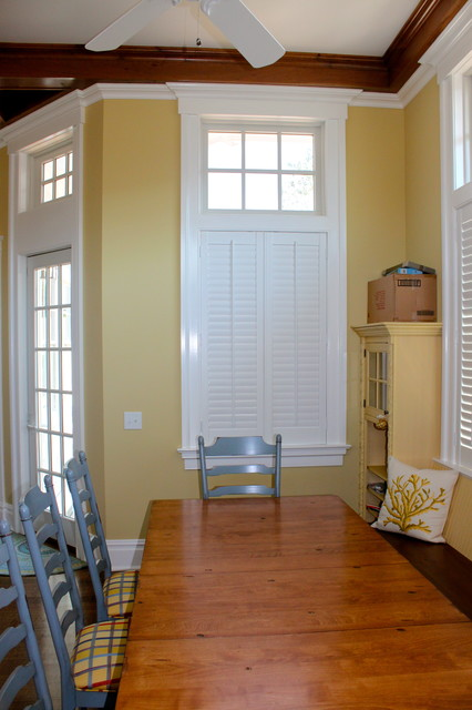 Plantation Shutters traditional-kitchen