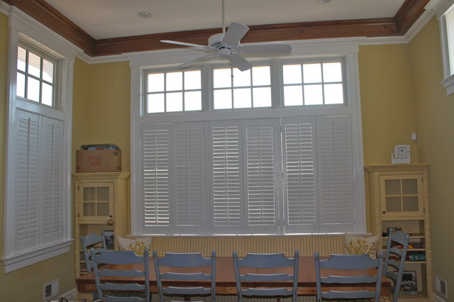 Plantation Shutters Traditional Kitchen New York