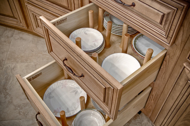 Plate Organizer Traditional Kitchen