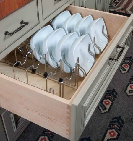 Plate storage & organization options for Cabinetry traditional-kitchen