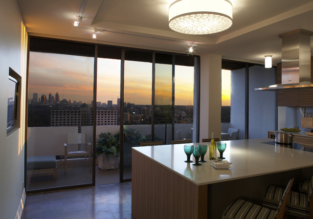 Plaza towers condo renovation for Modern condo kitchens