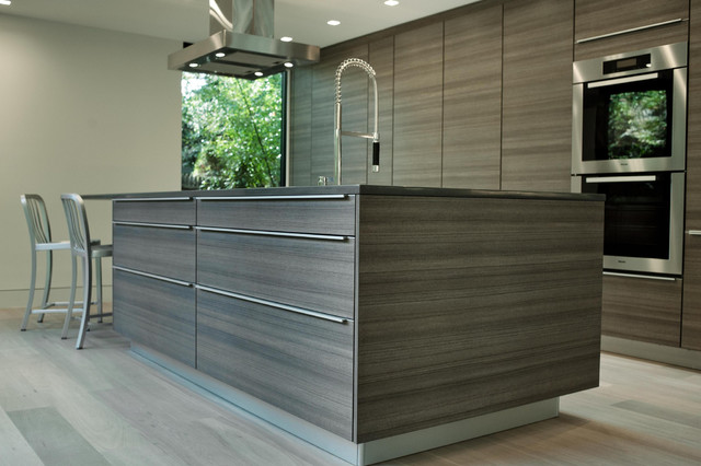 Poggenpohl contemporary kitchen other by poggenpohl for Modern teak kitchen cabinets