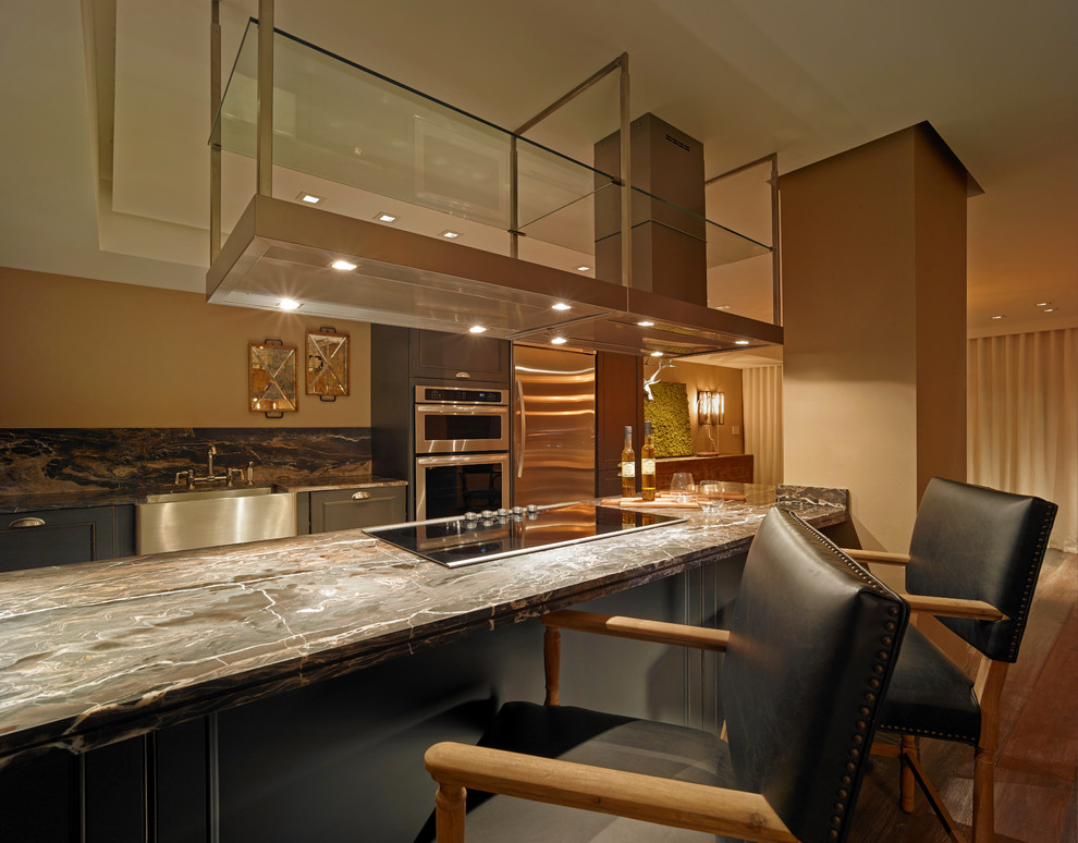 Inspiration for a transitional kitchen remodel in Miami