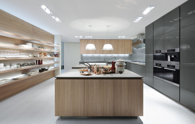 Poliform Kitchen Design. Poliform  Varenna Artex collection contemporary kitchen