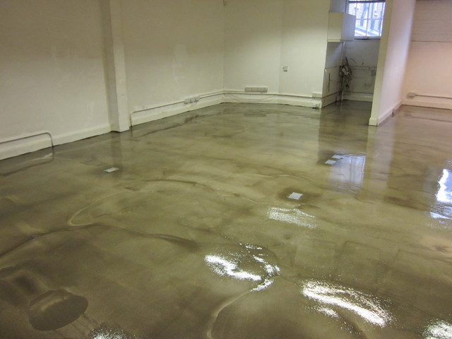 POLISHED CONCRETE EFFECT FLOORING INSTALLED AT WAREHOUSE CONVERSION ...