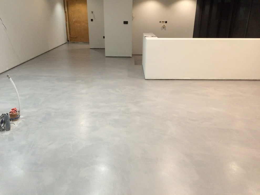 Polished Concrete Microcement Floor In Winchester Hampshire