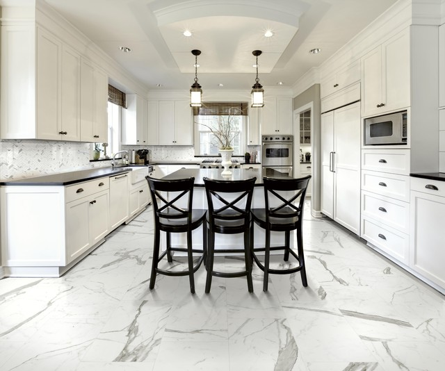 Polished Statuario Marble Copy In Porcelain Htl5274 80 X
