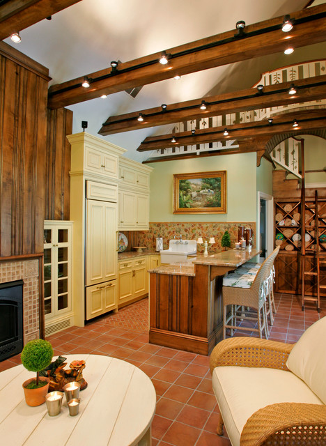 kitchen with wood cabinets pool cabana traditional kitchen philadelphia by 6562