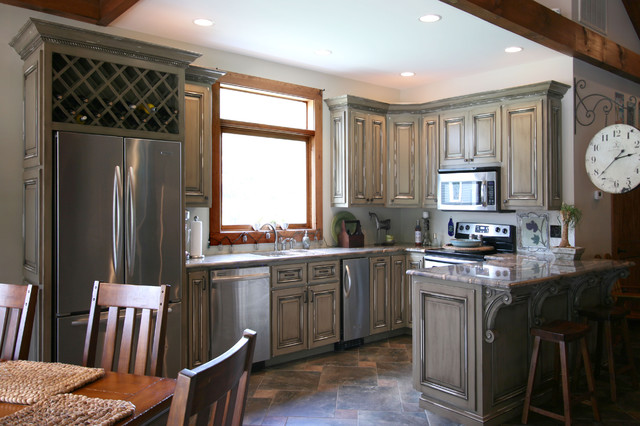 Man Cave Kitchen : Pool house man cave combination traditional kitchen