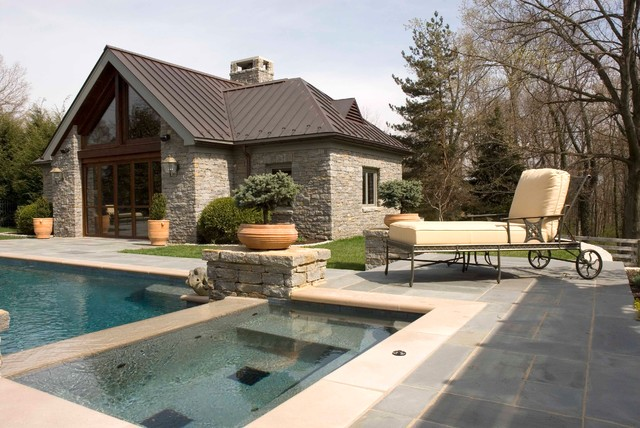 Pool House contemporary-kitchen