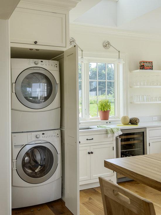 Hide Away Washer And Dryer Kitchen Design Ideas Photos