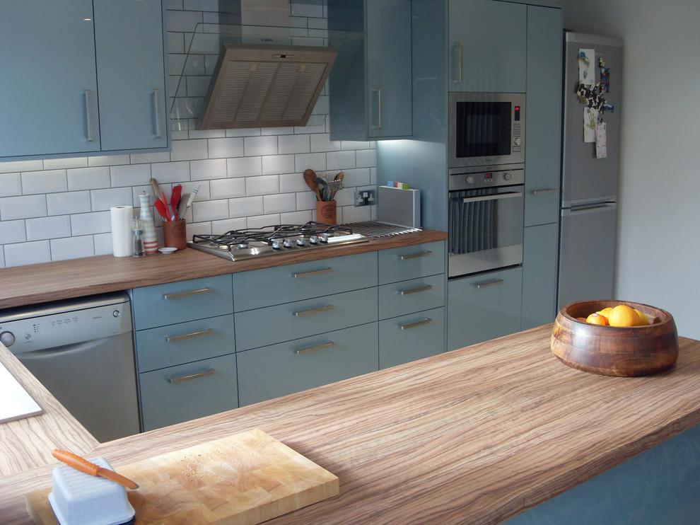 Poole Ice Blue With Coco Bolo Contemporary Kitchen Dorset By Hallmark Kitchen Designs Houzz