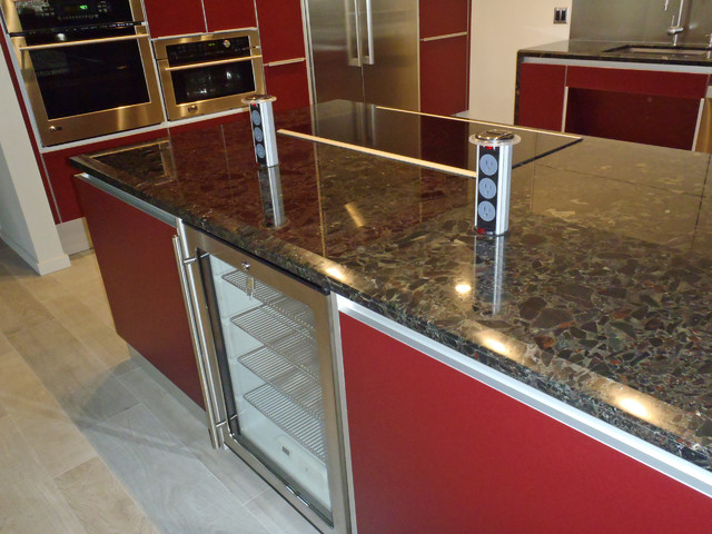 kitchen countertop pop up outlet - kitchen cabinets