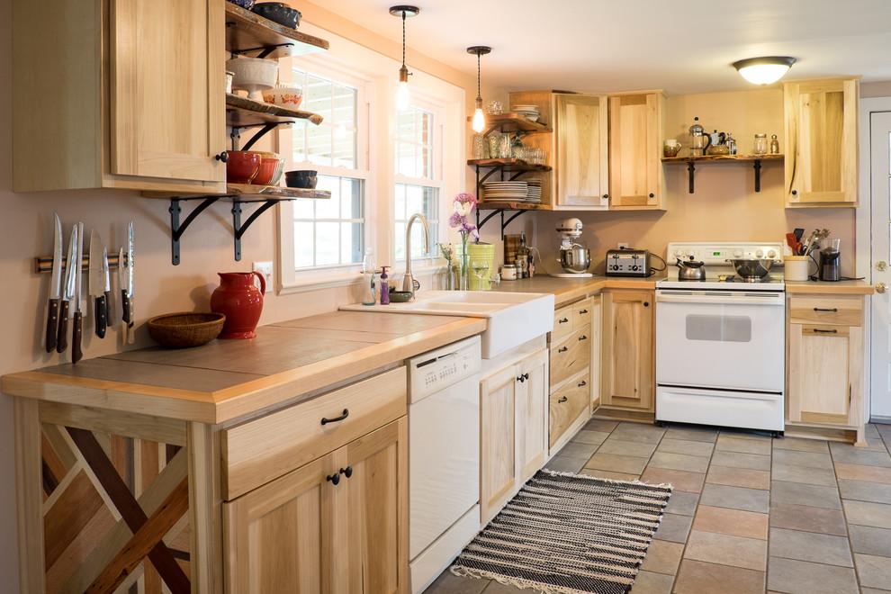 Poplar and Walnut Kitchen Cabinets - Farmhouse - Kitchen ...