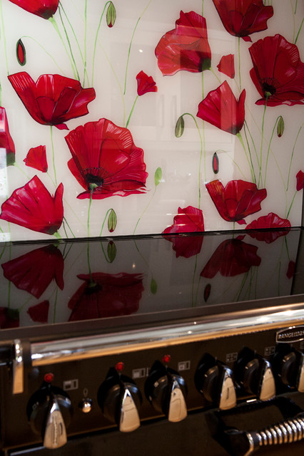 Delicieux Poppy Glass Splashback Contemporary Kitchen