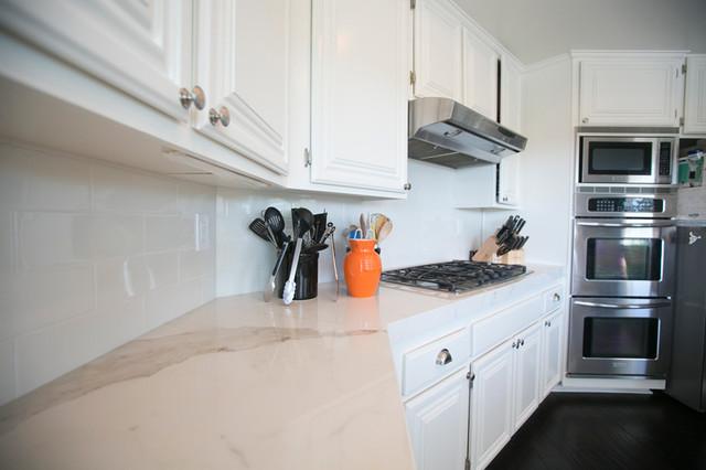 Gentil Porcelain Slab Kitchen Countertop In Laguna Niguel Transitional Kitchen