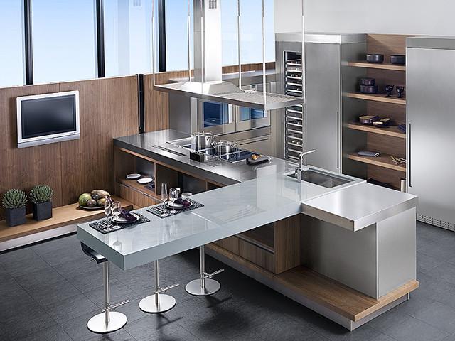 Porcelanosa The G680 Nogal Sienna modern-kitchen