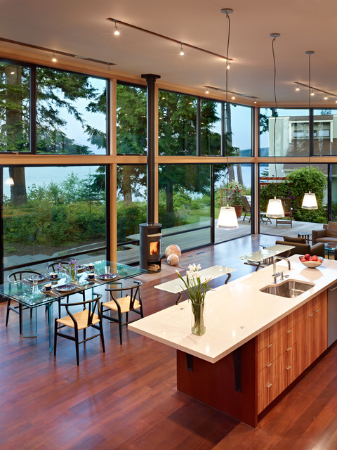 Port Ludlow House modern-kitchen