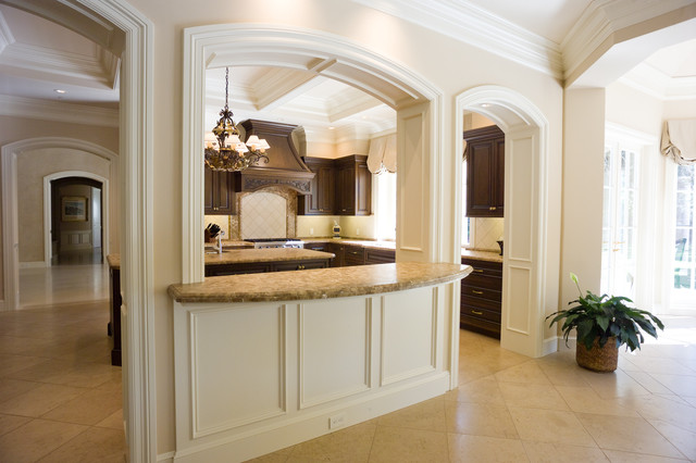 Portola Valley, California - Traditional Kitchen with Center Island traditional-kitchen