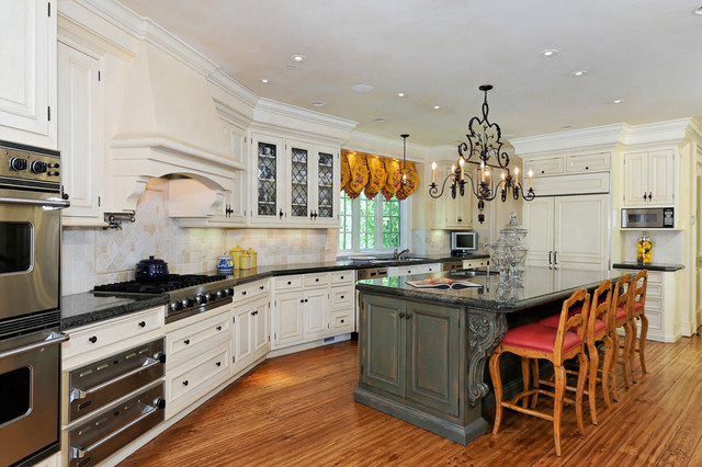Portola Valley French Country Custom Home traditional-kitchen
