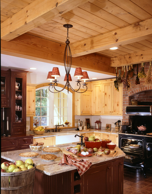 Cottage kitchen by Claremont Design-Build Firms Timberpeg