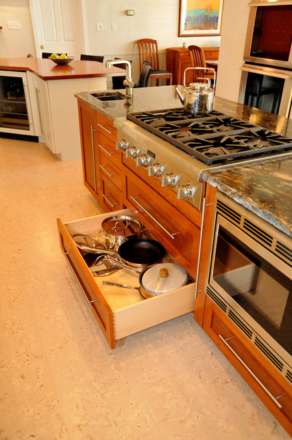 Pot And Pan Drawer Contemporary Kitchen Philadelphia By Kevin Martin