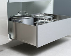 Pot & Pan Storage in Stainless Steel Roll-Out Shelves from Dura Supreme modern-kitchen