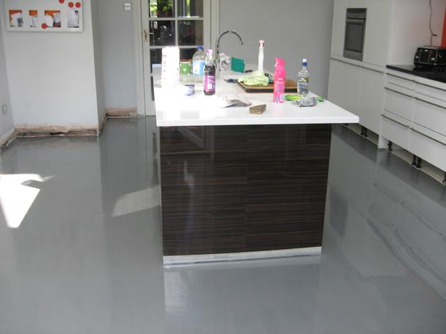 poured resin flooring Edinburgh Scotland - Contemporary - Kitchen